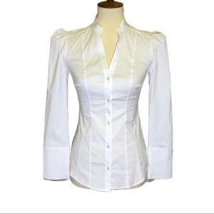 NWOT WHBM White Button Down Shirt Size 0